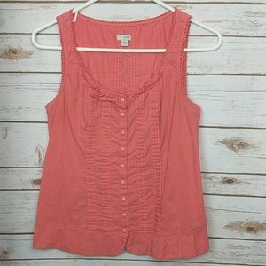 Anthropologie Odille Coral Pink Tank Top Size 8